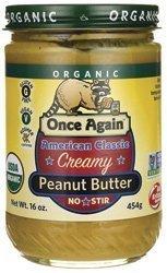 Stir Creamy (Once Again Organic American Classic Creamy No-Stir Peanut Butter 16 oz (454 grams) Jar by Onceagain)