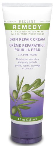 (Medline Remedy Unscented Olivamine Skin Repair Cream, 4 Fluid Ounce)