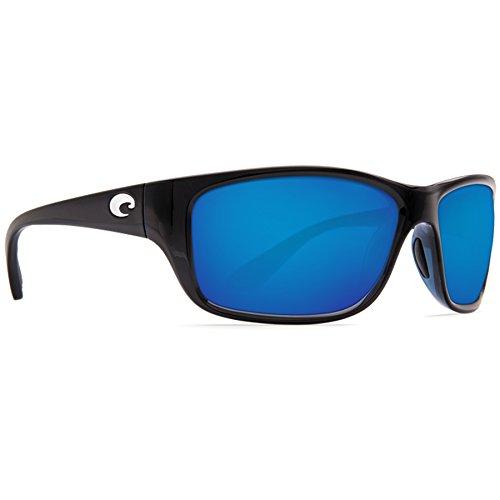 Costa Del Mar Tasman Sea 580P Tasman Sea, Shiny Black Blue Mirror, Blue - Mar Costa Sunglasses Used Del