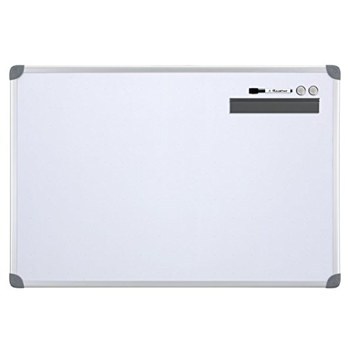 Quartet Dry-Erase Board, Whiteboard/White Board, Magnetic, 2' x 3', Euro Style Frame (UKTE2436-ECR)