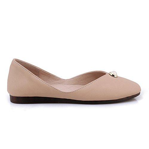 Taffen Womens Comfort Slip On Flat Shoes Albicocca-94