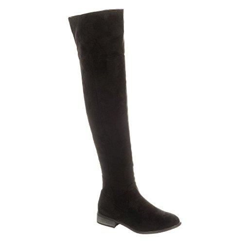 Black Sandales Suedette Diva Miss Shoes Compensées Femme SFnwXEOq8