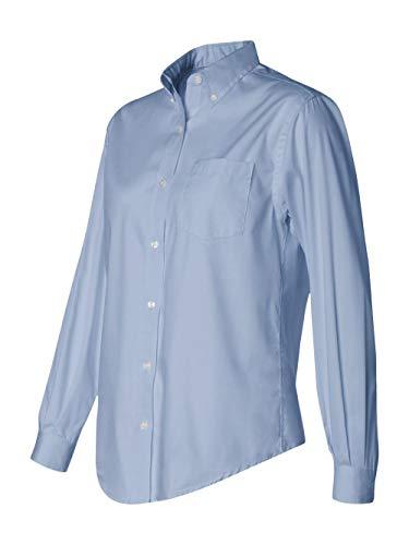 Van Heusen Women's Wrinkle Free Pinpoint Oxford Shirt, CORPORATE BLUE, X-Large