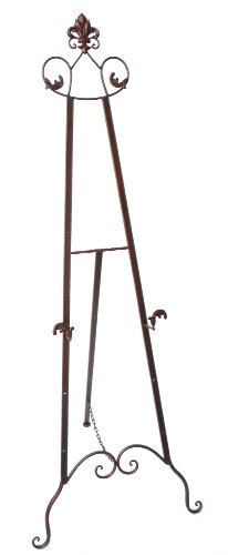 Easel Wedding - Designstyles Decorative Metal Easel Stand - Adjustable Floor Display for Art Pieces, Signs, Mirrors and Chalk/Dry Erase Boards - 59