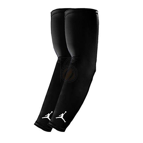 358ea58743 NIKE Jordan Basketball Arm Shooter Sleeve (Black/White, S/M)