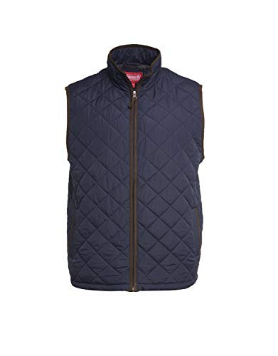 - Coleman Cotton Quilted Vest with Suede Trim and Flannel Lining Vests for Men (X-Large, Midnight Navy)