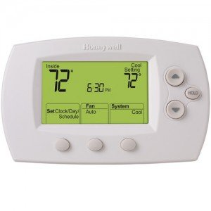 FocusPRO 6000 5+1+1 Day Programmable Thermostat - Large Screen, 2H/2C, Auto C/O, Dual Powered-2PK