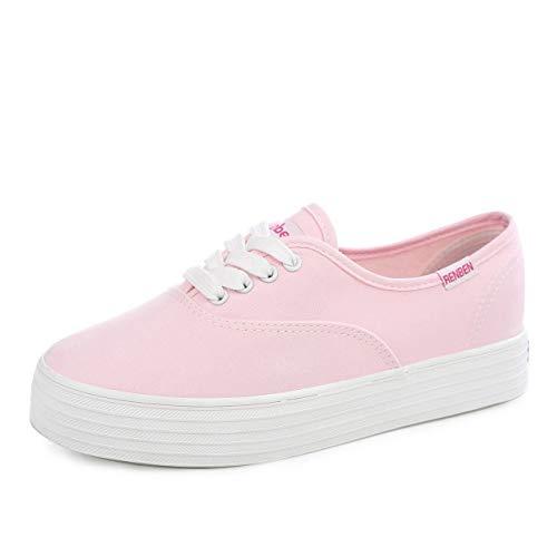 Hasag Zapatos de Lona Zapatos Deportivos de Mujer Zapatos de Muffin de Primavera Pink