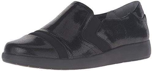 Rockport Women's Devona Demsa Slip-On Loafer, Black Shiny Leather, 10 N (AA) - Rockport Women Casual Oxfords