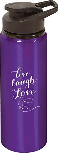 P. Graham Dunn Live, love, laugh Water Bottle (Purple) HZO71