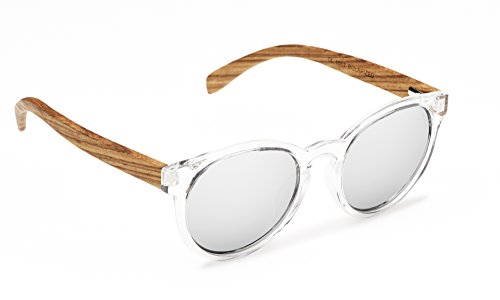 Biscayners Hampton Unisex, Wood Sunglasses Polarized Mirrored - Evoke Sunglasses