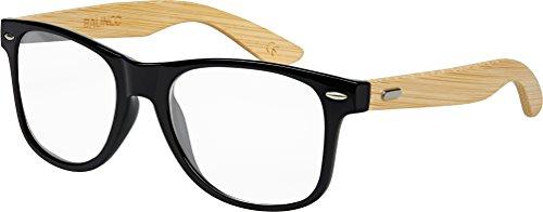 Bambou Unisex Soleil Bois 9 ressort Modèles Rétro à Transparent lunettes Lunettes Charnière qualité Nerd couleurs De choix Gomme Style Vintage différentes haute au avec Bambou q5YPfET