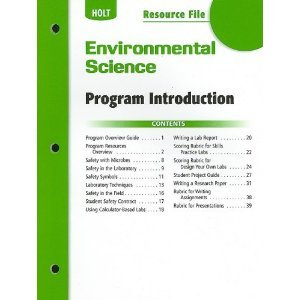 Chapter  Resource File #15  Food and Agriculture Holt Environmental  Science  2006