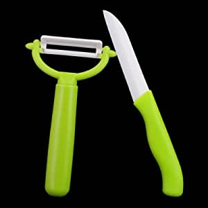 BESTLEAD Professional Kitchen Ceramic Knife and Ceramic Peeler - Green
