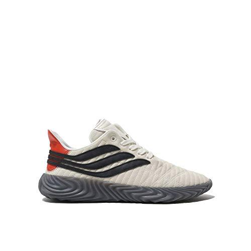 adidas Sobakov Mens in Off White/Core Black/Raw Amber, 10.5