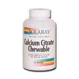 Solaray Calcium Citrate Sugar Free Orange -- 60 Chewable Wafers
