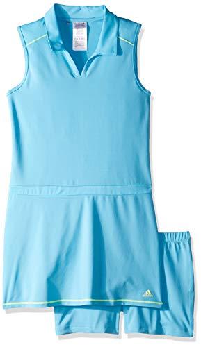 adidas Golf Novelty Golf Dress, Bright Cyan, Medium