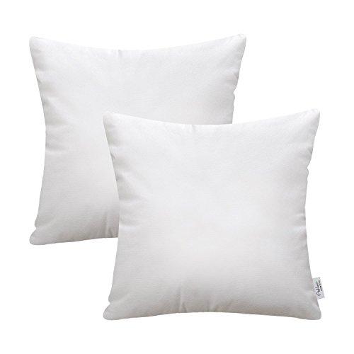 (Ashler Set of 2 Hypoallergenic Throw Pillow Inserts Standard Square Polyester Sham 20