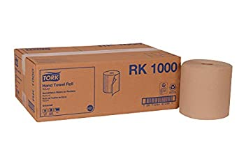 "Tork Universal RK1000 Hardwound Paper Roll Towel, 1-Ply, 7.87"" Width x 1000' Length, Natural (Case of 6 Rolls, 1000 Per Roll, 6,000 Feet)"