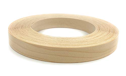 Edge Supply Birch 1/2″ X 50′ Roll of Plywood Edge Banding – Pre-glued Real Wood Veneer Edging – Flexible Veneer Edging – Easy Application Iron-on Edge Banding for Furniture Restoration – Made in USA