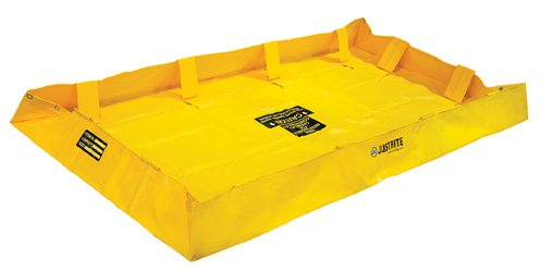 Justrite Manufacturing Company LLC 28564 - QuickBerm Collapsible Berm - PVC coated fabric, Yellow, 48 in Wide, 96 in Long