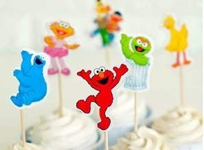 Sesame Street Assorted Cupcake Picks Set of 12]()