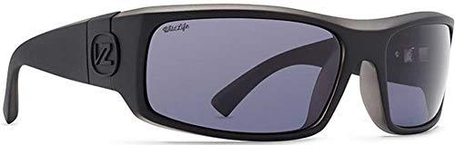 Von Zipper Kickstand Wildlife Polarized Sunglasses-Black Smoke Satin-Vintage Grey (Sunglasses Zipper Von Vintage)