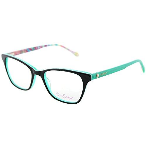 Lilly Pulitzer Sydney GN Green Plastic Rectangle Eyeglasses - Glasses Prescription Sydney