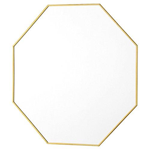 Abira Modern Brass Octagon Mirror - - Black Mirror Octagon