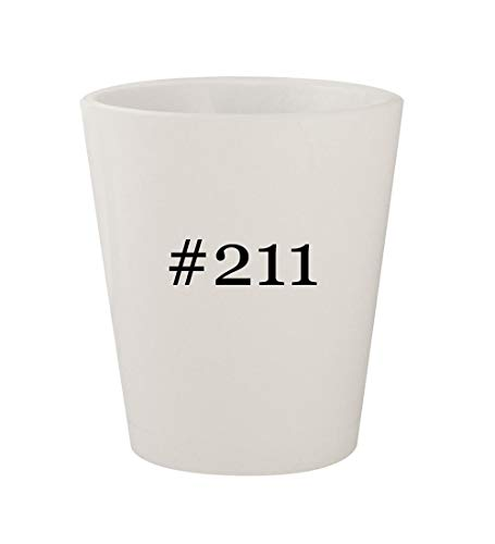#211 - Ceramic White Hashtag 1.5oz Shot Glass