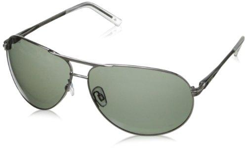 Dot Dash Bufordt Aviator Polarized Sunglasses,Silver Gloss,62 - Sunglasses Polarized Progressive