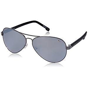 Lacoste Men's L163S Aviator Sunglasses, Silver, 62 mm