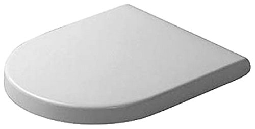 Duravit 0063810000 Starck 3 Toilet Seat and Cover, White Finish ()