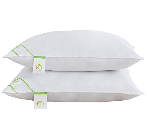 Down Alternative Pillows Standard - DUO-V HOME Bed Pillows for Sleeping Hypoallergenic with 100% Cotton Cover, Soft and Warm, Set of 2(20