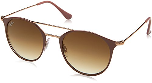 Ray-Ban 0rb354690715149steel Unisex Round Sunglasses, Copper Top on Beige, 48 - Bar Ray Ban