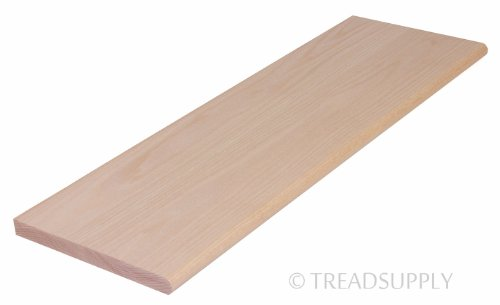 """48"""" Red Oak Stair Tread - Unfinished, Solid"""