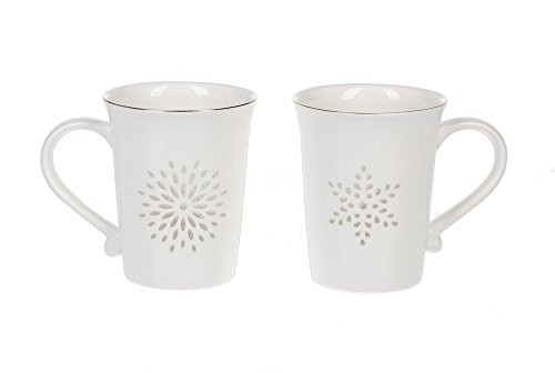 Ganz Magic Window Porcelain 2 Pc. Mug Set (Ganz Mugs Travel)