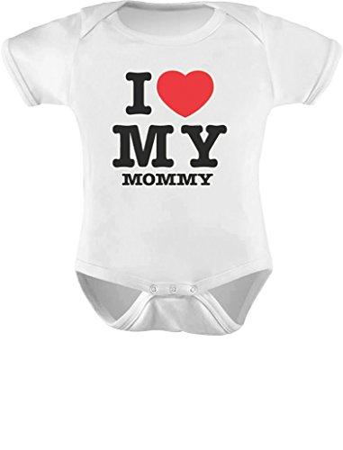 I Love My Mommy Baby Bodysuit 6M White (Piece One Replica)