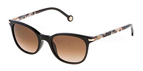 Carolina Herrera Womens Black Square Plastic Sunglass SHE650V - Sunglasses Carolina Herrera