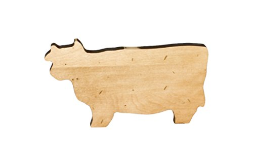 J.K. Adams Cow Novelty Serving Board, Mini, Maple made in New England