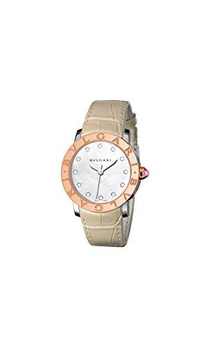 Bvlgari BVLGARI White Mother of Pearl Diamond Dial 37mm Automatic Ladies Watch 101895