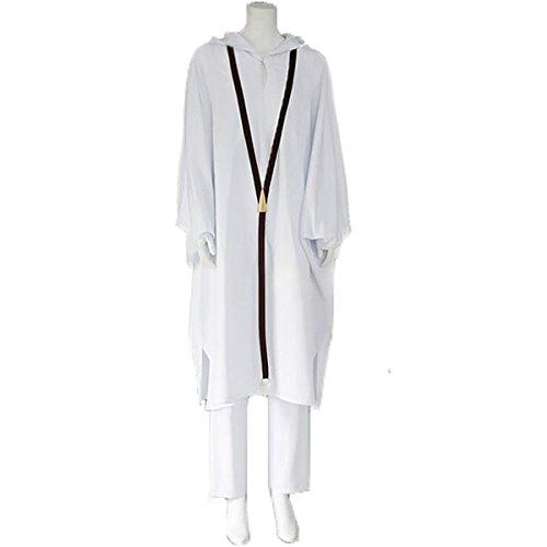 Poetic Walk Fate/Grand Order Cosplay Costume Lancer Enkidu Costume Halloween Party Costume (Womens-S, White Set)