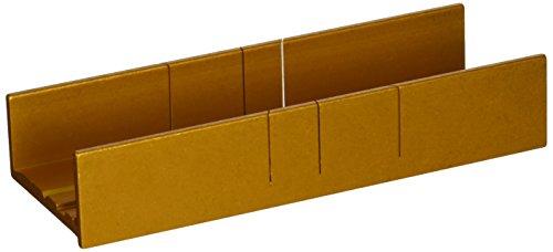 Zona 37-240 Aluminum Thin Slot Miter Box, Slot Size .014-Inch, Slot Angles 30, 45, 90