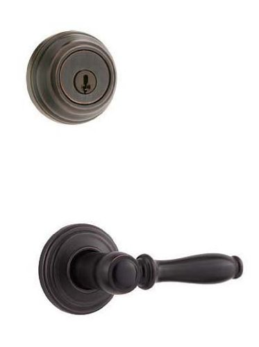 Double Handleset Ashfield Cylinder (Kwikset 967ADL 11P SMT Ashfield Lever Double Cylinder Interior Pack with Smart Key, Venetian Bronze)