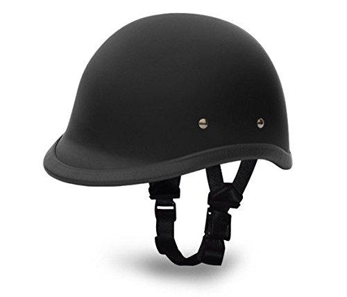 Daytona Helmets Mens Motorcycle Hawk Dull Blk Flat Rider Novelty Non DOT Lightweight helmet New (L Black) (Helmet Novelty Hawk)