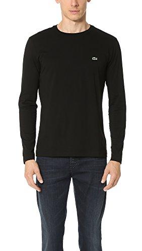 - Lacoste Men's Long Sleeve Jersey Pima Crewneck T-Shirt, Black, 6