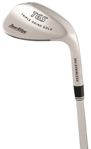Tour Edge Men's TGS Triple Grind Sole Wedge (Right Hand, Stainless Steel, Uniflex, 60 degrees, 35.25 inches)