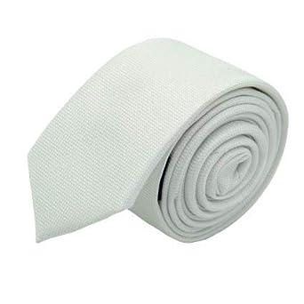 nouvelle sélection chaussures authentiques jolie et colorée Attora - Cravate Slim Homme. Très fin quadrillage Blanc ...