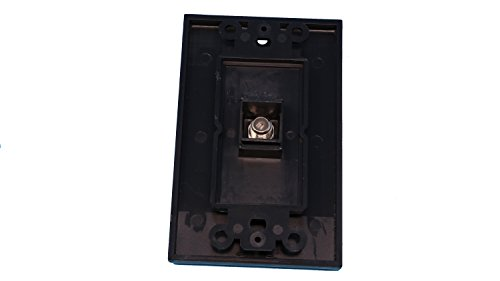 Coaxial wall plate black