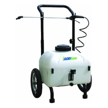 Be Agriease 9 Gallon Pull Sprayer With 12 Volt Battery Pump Lawn And
